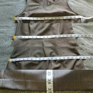 Dresses - Sharagano brown charcoal work dress size 8